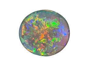 Black Opal 9.5x8.5mm Oval Cabochon 1.89ct