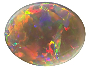 Black Opal 12.5x9.5mm Oval Cabochon 3.41ct