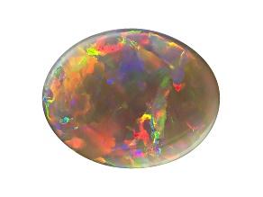 Black Opal 12.5x9.5mm Oval Cabochon 3.41ct