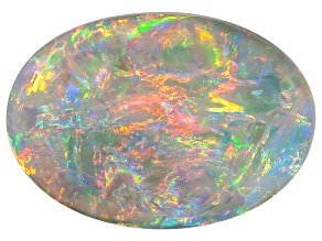 Black Opal 10x7.5mm Oval Cabochon 1.73ct