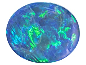 Black Opal 11.5x9.5mm Oval Cabochon 3.21ct