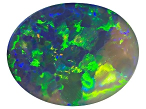 Black Opal 12.5x9.5mm Oval Cabochon 2.87ct