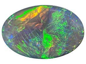 Black Opal 11.5x7.5mm Oval Cabochon 2.01ct