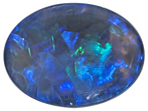 Black Opal 10.5x8mm Oval Cabochon 2.53ct