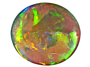 Black Opal 8x7.5mm Oval Cabochon 1.18ct