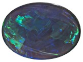 Black Opal 17.09x12.48mm Oval Cabochon 7.24ct
