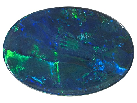 Black Opal 16.73x11.39mm Oval Cabochon 5.61ct