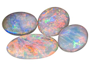 Black Opal Oval Cabochon Set 3.63ctw