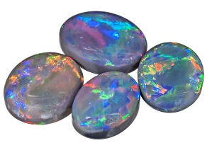 Black Opal Oval Cabochon Set 2.65ctw