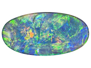 Black Opal 16.69x8.33mm Oval Cabochon 2.90ct