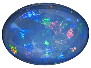 Black Opal 14.68x10.55mm Oval Cabochon 5.84ct