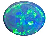 Black Opal Oval Cabochon .25ct