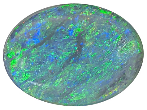 Black Opal Oval Cabochon .50ct