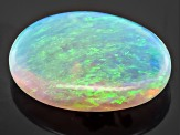 Black Opal Oval Cabochon .75ct