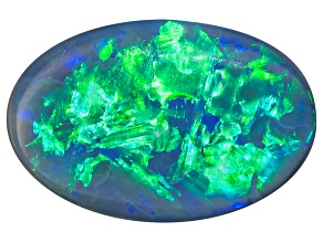 Black Opal Oval Cabochon 1.55ct