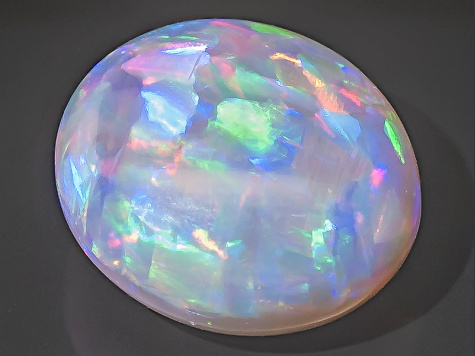 Black Opal Oval Cabochon 1.65ct