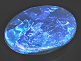 Black Opal Oval Cabochon 3.00ct