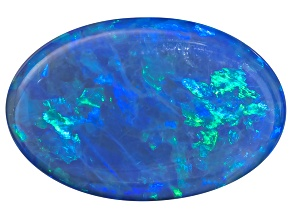 Black Opal Oval Cabochon 3.10ct