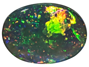 Black Opal Oval Cabochon 1.65ct