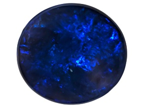 Black Opal Oval Cabochon 2.60ct