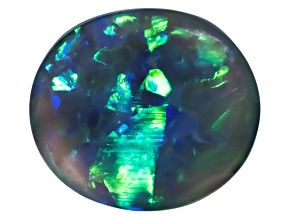 Black Opal 9.8x8.6mm Oval Cabochon 2.03ct