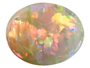 Black Opal 11.3x8.9mm Oval Cabochon 2.30ct