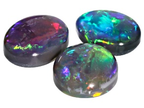 Lightning Ridge opal set of 3 oval cabochons 2.07ctw