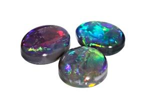 Lightning Ridge opal set of 3 oval cabochons 2.07ctw
