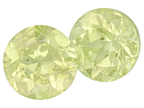 Chrysoberyl 4mm Round Brilliant Matched Pair .35ctw