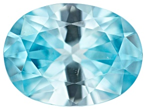 Blue Zircon 12x9mm Oval 5.07ct