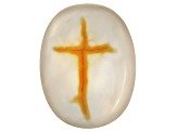 Chalcedony With Cross inclusion Medium Size Oval Cabochon