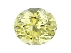 Chrysoberyl 7x6.2mm oval 1.23ct