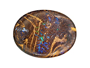 Boulder Opal in Matrix 20x15mm Oval Cabochon