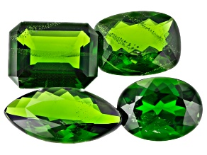 Chrome Diopside Set of 4 Mixed 6.85ctw