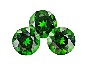 Chrome Diopside Set of 3 8mm Round 6.06ctw