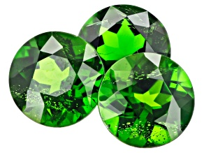 Chrome Diopside 7mm Round Set of 3 3.84ctw