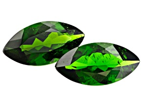 Chrome Diopside 13.7x7mm Marquise Matched Pair 4.92ctw