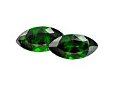 Chrome Diopside 13.7x7mm Marquise Matched Pair 5.22ctw