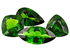 Chrome Diopside Mixed Shapes and Sizes Set of 4 4.62ctw
