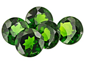 Chrome Diopside 6mm Round Set of 5 4.35ctw