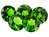 Chrome Diopside 6mm Round Set of 5 4.02ctw