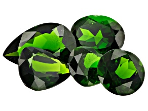 Chrome Diopside Mixed Shapes and Sizes Set of 5 9.54ctw