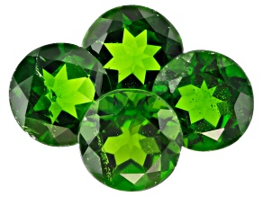 Chrome Diopside 6mm Round Set of 4 3.69ctw
