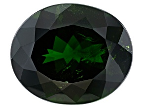 Chrome Diopside 12x10mm Oval 4.25ct
