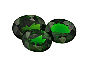 Chrome Diopside Oval Set of 3 5.25ctw