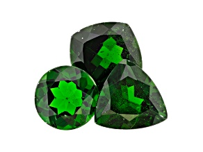 Chrome Diopside Mixed Shape Set of 3 7.80ctw