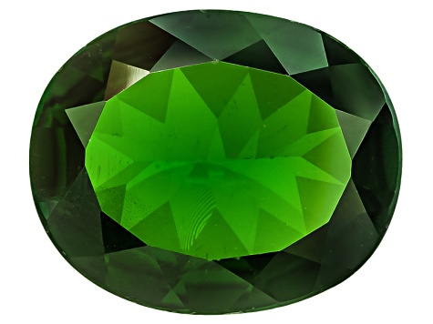 Chrome Diopside 12x10mm Oval 3.50ct