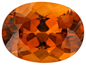 6.81ct Madeira Citrine 15x11mm Oval
