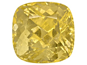 Yellow Danburite 12mm Square Cushion 10.92ct