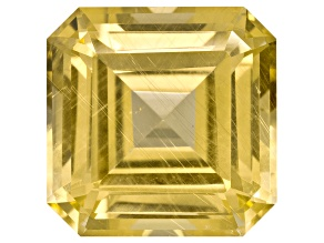 Yellow Danburite 12mm Square Emerald Cut 8.44ct